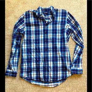 Lands'End men's flannel !! 15-15 1/2